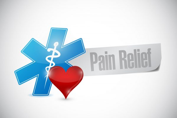 pain relief medical sign illustration design over a white background